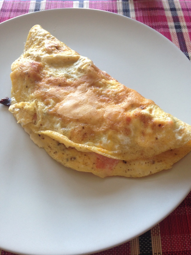 Omlett mit Lachs und getr. Tomaten 1