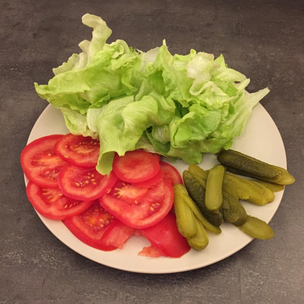 Das vorbereitete Gemüse