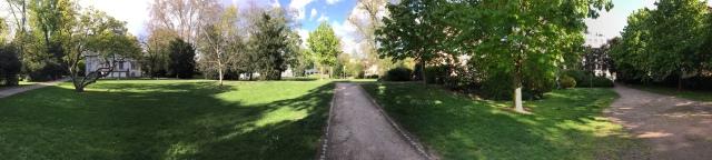 Ein neu entdeckter Park ganz in der Nähe.