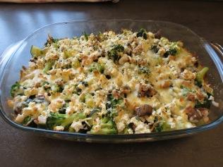 Das fertige Gemüsegratin frisch aus dem Ofen.