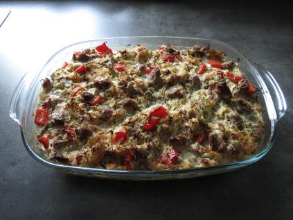 Sauerkrautauflauf frisch aus dem Ofen