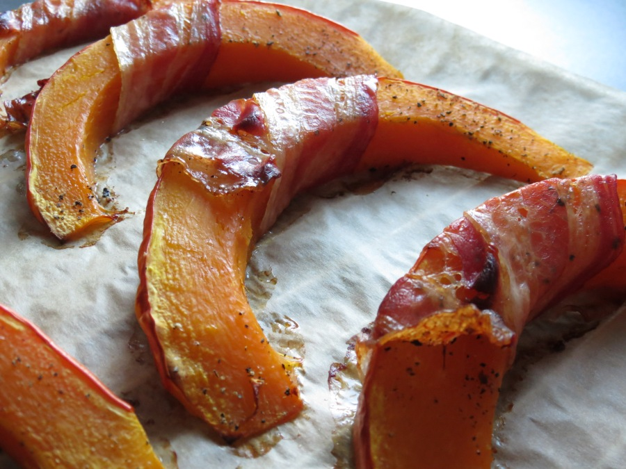 Der Bacon ist knusprig und lecker!