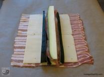 Baconrolle offen mit Füllung