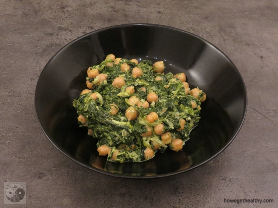 Kichererbsen-Spinat-Pfanne