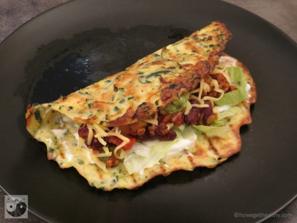 Low Carb Burrito gerollt