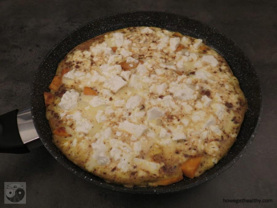 Süßkartoffel-Feta-Omlette