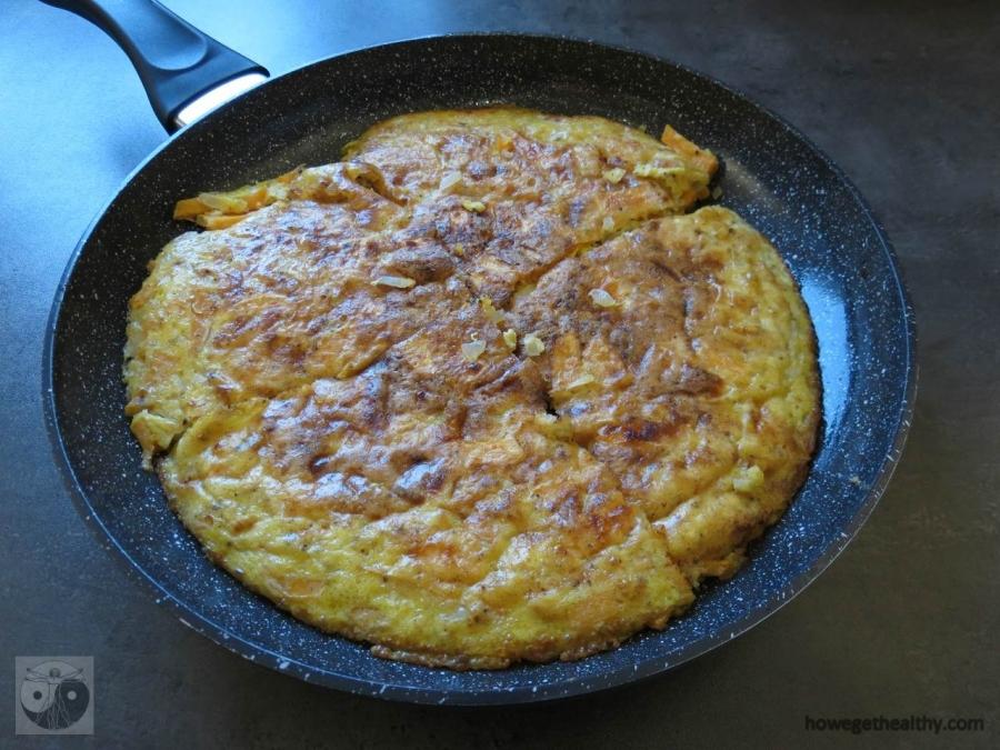 Süßkartoffel-Parmesan-Frittata
