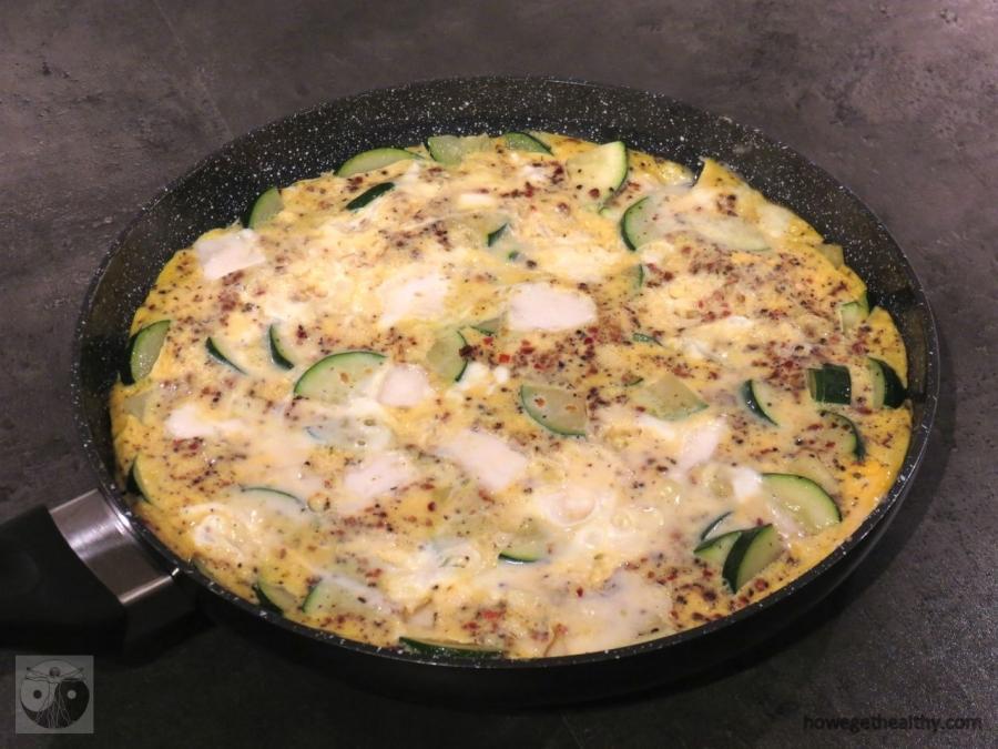 Zucchini-Ziegenkäse-Omlette