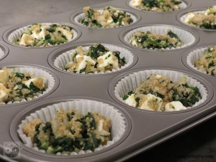 Quinoa-Spinat Muffins mit Feta Schritt 1a