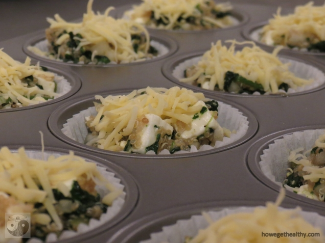 Quinoa-Spinat Muffins mit Feta Schritt 2c