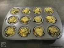 Quinoa-Spinat Muffins mit Feta Schritt 3a