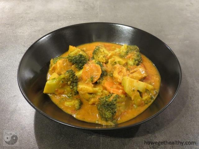 Gemuese-Curry mit Lamm