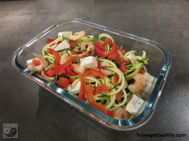 Gemuese-Spaghetti-Salat