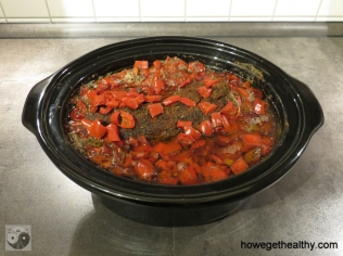 Pulled Pork mit Paprika-Zwiebel-Sosse Slow Cooker