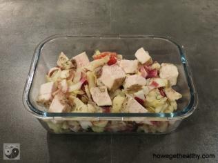 Blumenkohl-Chucoreé-Salat mit Haehnchen Lunchbox