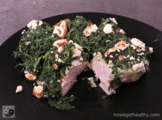 Haehnchen-Spinatauflauf mit Feta Teller