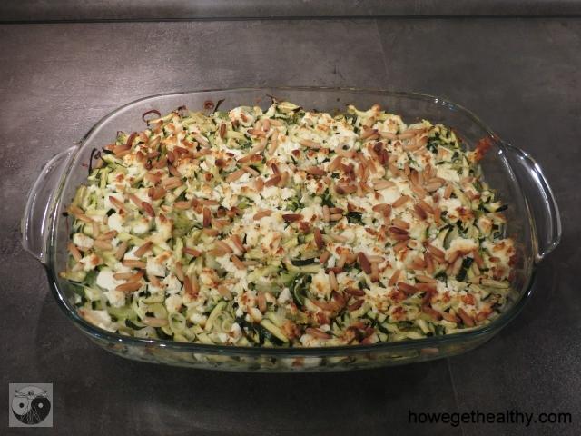 Zucchini-Feta-Auflauf