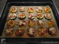 Mini-Zucchini-Pizzen Blech gebacken