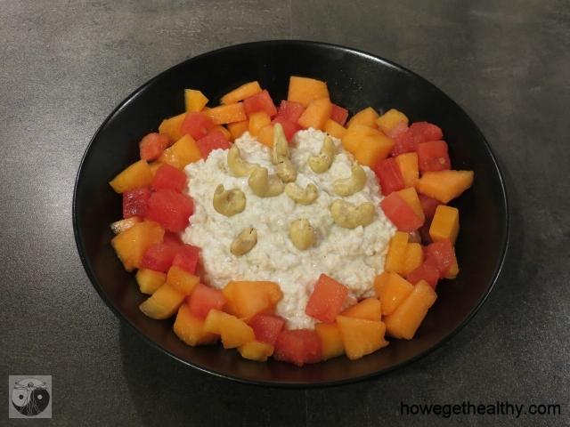 Quinoa-Melonen-Fruehstueck