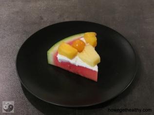 Wassermelonenpizza Stueck