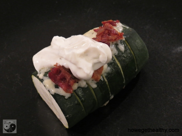 Baked Zucchini Teller Schmand