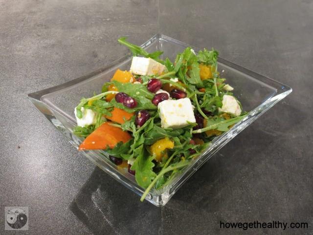 Kuerbis-Feta-Salat