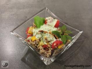 Quinoasalat mit Gemuese und Joghurt-Minz-Dressing II