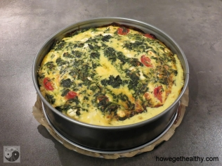 Spinat-Feta-Kuchen Form ganz
