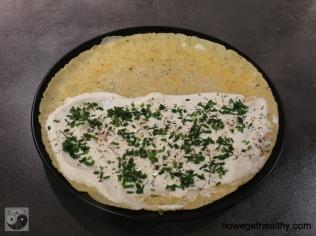 Gefuelltes Omlette mit Lachs und Brokkoli Schritt 1