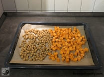 Kichererbsen-Suesskartoffel-Salat Blech