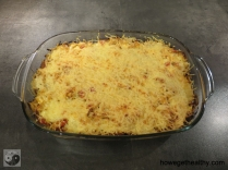 Sauerkrautauflauf mit Chorizo Auflaufform