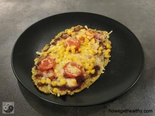 Pizza mit falafel-Boden II