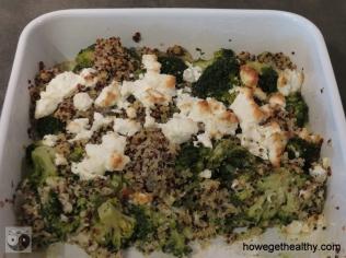 Broccoli-Quinoa-Auflauf Form