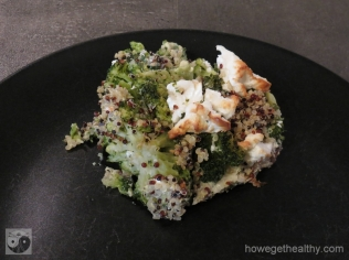 Broccoli-Quinoa-Auflauf Teller